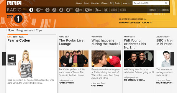 A screenshot of the Radio 1 Labs release
