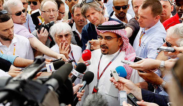 F1 boss Bernie Ecclestone and His Royal Highness Prince Salman Bin Hamad Al Khalifa Crown Prince of Bahrain.