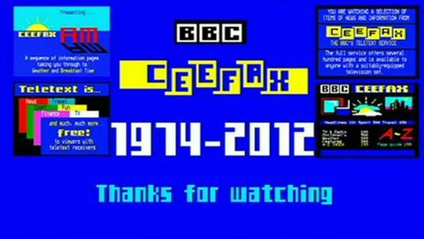 Screenshot of Ceefax