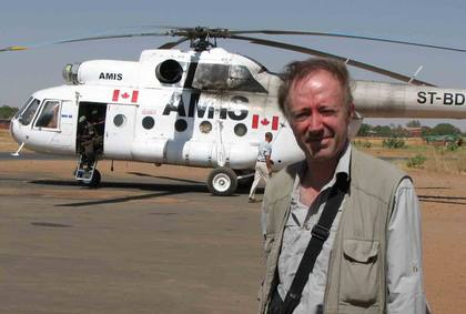 Mike Thomson at Southern Darfur Airport
