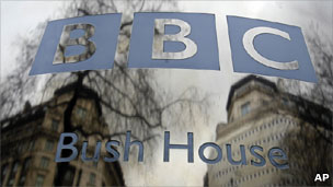 Sign for BBC Bush House