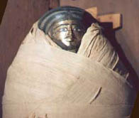 Image of mummy wrapped in 375m of linen