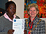 Ashleigh Howe receive her award from Waltham Forest Mayor's, Cllr Sheila Smith-Pryor