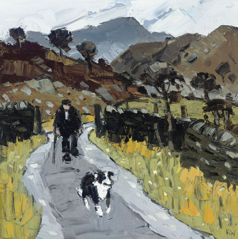 Bbc wales arts kyffin williams artwork up for auction for Painting for sale by artist