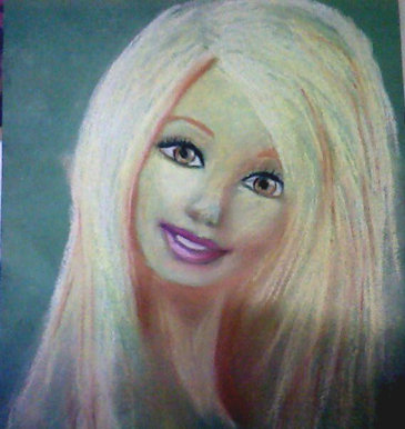 BBC Blast Art Design Barbie Doll Sketch - Barbie hair style drawing