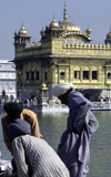 Sikhs at the Golden Temple at Amritsar