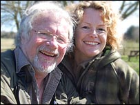 Bill Oddie and Kate Humble at Pensthorpe (for Springwatch 2008)