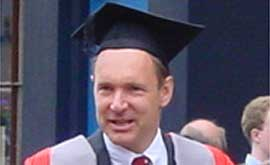 Professor Berners-Lee on his way to receive an Honorary degree from Oxford University
