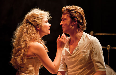 Scarlett Strallen (Clara) and David Thaxton (Giorgio) in Passion. Photo: Johan Persson