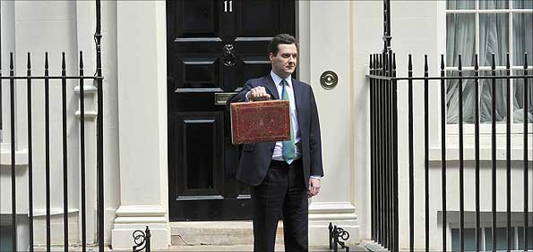 George Osborne outside Number 11 Downing Street