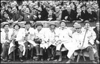 Minety 'Moonrakers', supporters of Swindon Town F.C.