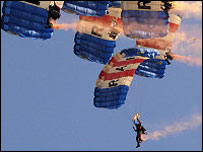 The RAF Falcons Freefall Team