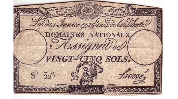 FRENCH REVOLUTION MONEY 1792