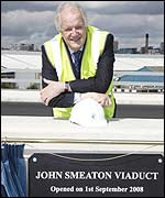 Andrew Carter at the naming of the viaduct