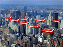 Red Arrows over New York