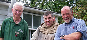 Norman Patten, St Mo-choi and Tom McErlean at the NIEA archaeology day.