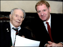 Harry Patch with Poet Laureate, Andrew Motion