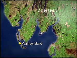 Walney Island map