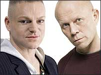 Erasure's Andy Bell and Vince Clarke.