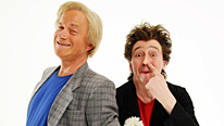 Jonny (Harry Enfield) and Bing (Paul Whitehouse) promote special edition cars as the comedy continues