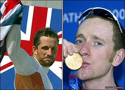 GB sailor Ben Ainslie (left) and cyclist Bradley Wiggins