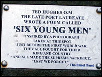 six young men ted hughes