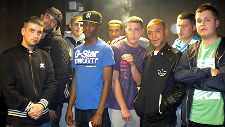 Some of the members of the Newport grime scene