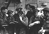 Canadians on a destroyer after Dieppe
