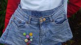 2a465169981 It is a jeans-based handbag. I sew button and a pocket.... By Andrea  Untitled
