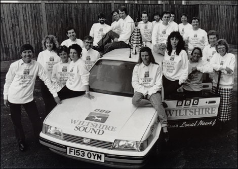 The station team back in 1989