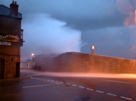 Penzance harbour wall