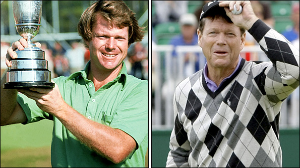 Then and now... Watson has history at Turnberry