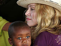 Madonna with baby David in Malawi