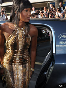Model Naomi Campbell, who is not a household name in Sierra Leone