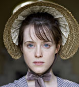Claire Foy as the youthful Amy Dorrit