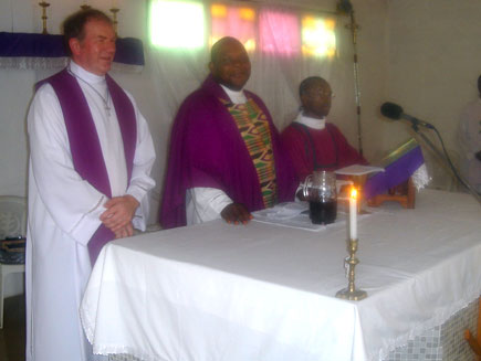 Altar party at St James' Anglican church