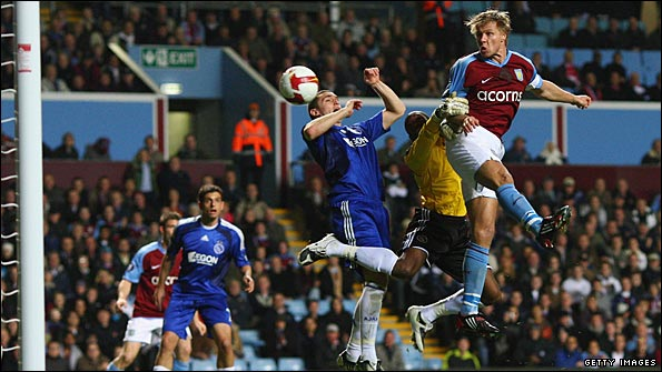 Martin Laursen was a commanding presence in both Villa's and the opposition's penalty areas