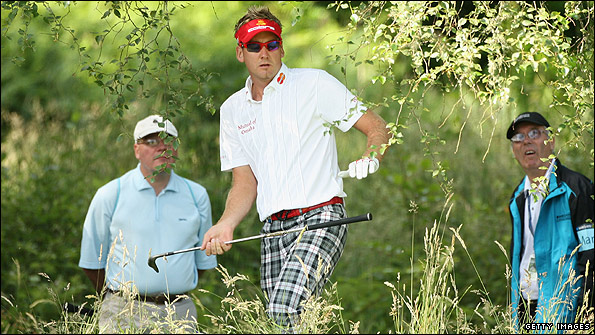 Ian Poulter in action in last week's Scottish Open