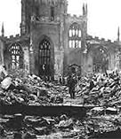 Image of Conventry Cathedral which was bombed