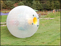 The Zorb can reach speeds of up to 30mph