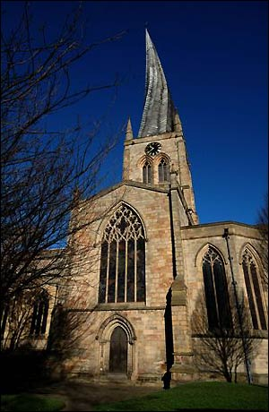 Crooked Spire: St Mary's Church, Chetserfield