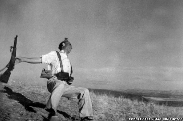 The falling soldier by Robert Capa
