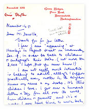 Letter from Enid Blyton about her fan mail.