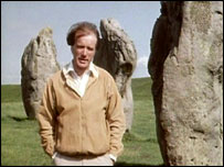 Gwyn Richards among the stones at Avebury