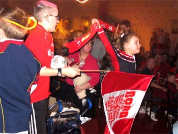 Fans in Acklam Steelworks Club by Jim Grant.