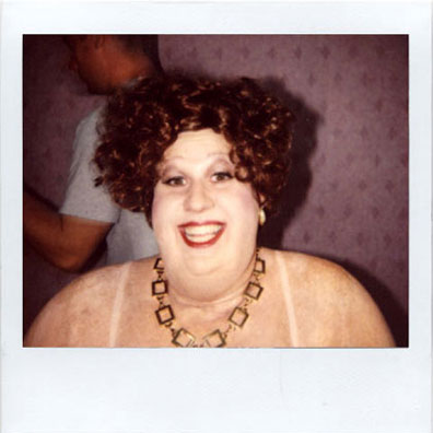 Matt Lucas make-up polaroid