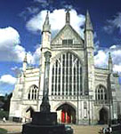 Photograph showing the impressive Winchester Cathedral