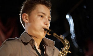 Classical Star: Tyler plays the Saxophone