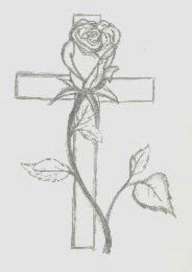 Bbc Blast Art Design Cross And Rose