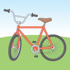 Image of a red bicycle